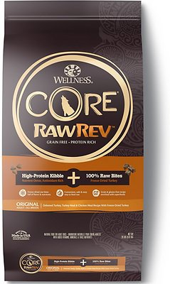 Wellness CORE RawRev Natural Grain-Free Original Turkey & Chicken with Freeze Dried Turkey Dry Dog Food, 20-lb bag