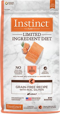 Instinct by Nature's Variety Limited Ingredient Diet Grain-Free Recipe with Real Salmon Dry Dog Food, 20-lb bag