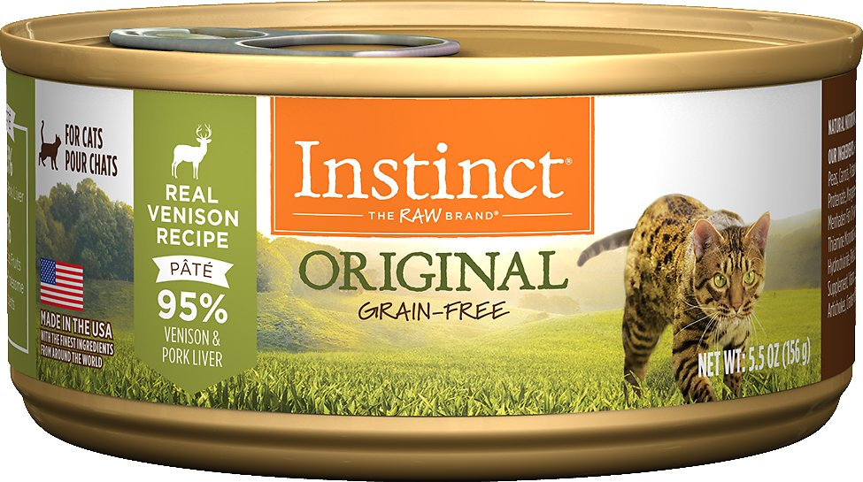 Instinct by Nature's Variety Original Grain-Free Real Venison Recipe Natural Wet Canned Cat Food Image