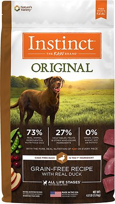 Instinct by Nature's Variety Original Grain-Free Recipe with Real Duck Dry Dog Food, 4-lb bag