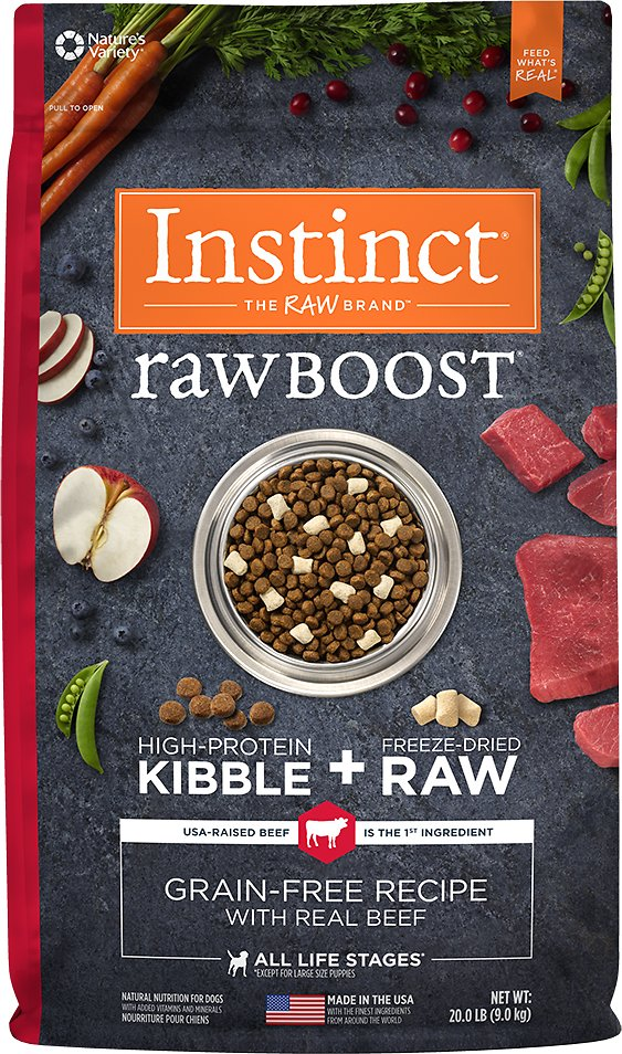 Instinct by Nature's Variety Raw Boost Grain-Free Recipe with Real Beef Dry Dog Food Image