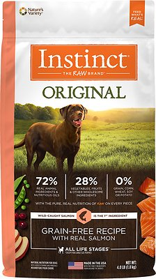 Instinct by Nature's Variety Original Grain-Free Recipe with Real Salmon Dry Dog Food, 4-lb bag