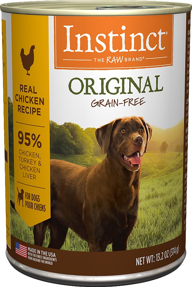 Instinct by Nature's Variety Original Grain-Free Real Chicken Recipe Natural Wet Canned Dog Food, 13.2-oz