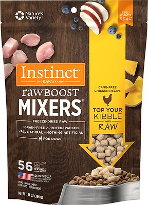 Instinct by Nature's Variety Raw Boost Mixers Chicken Recipe Freeze-Dried Dog Food Topper, 14-oz bag