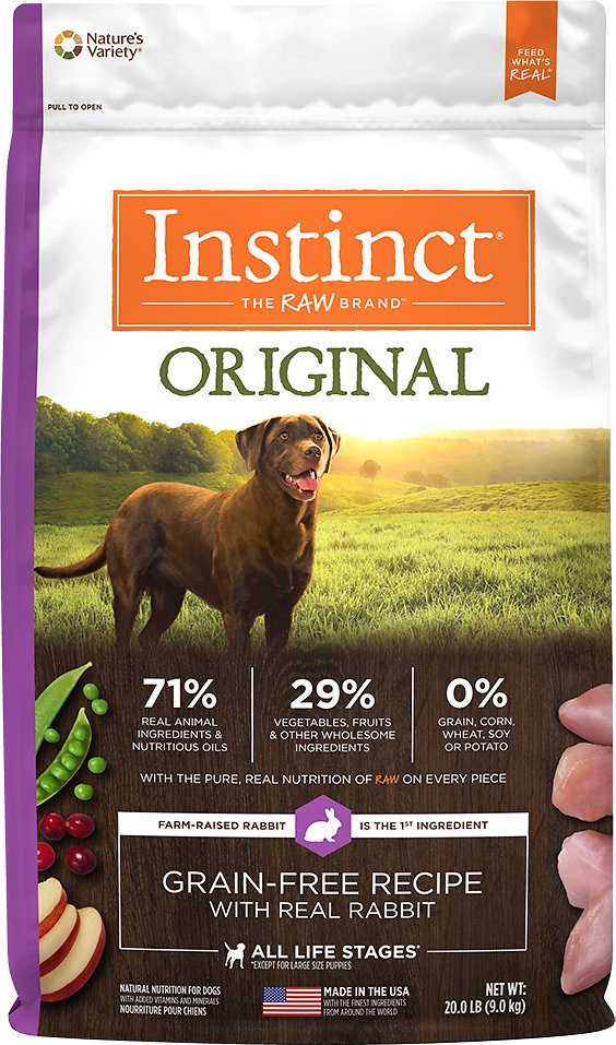 Instinct by Nature's Variety Original Grain-Free Recipe with Real Rabbit Dry Dog Food Image