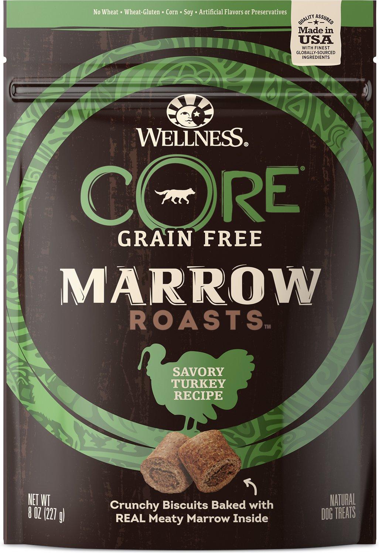 Wellness CORE Grain-Free Marrow Roasts Hearty Turkey Recipe Dog Treats