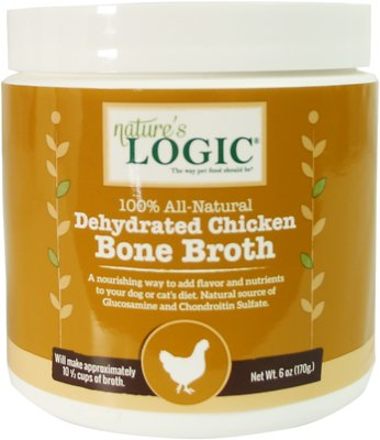 Nature's Logic Dehydrated Chicken Bone Broth Dog & Cat Supplement, 6-oz tub
