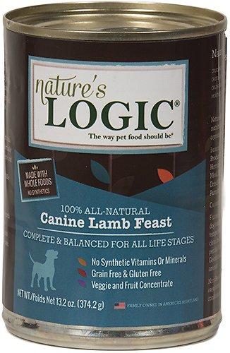 Nature's Logic Canine Lamb Feast Grain-Free Canned Dog Food, 13.2-oz, case of 12