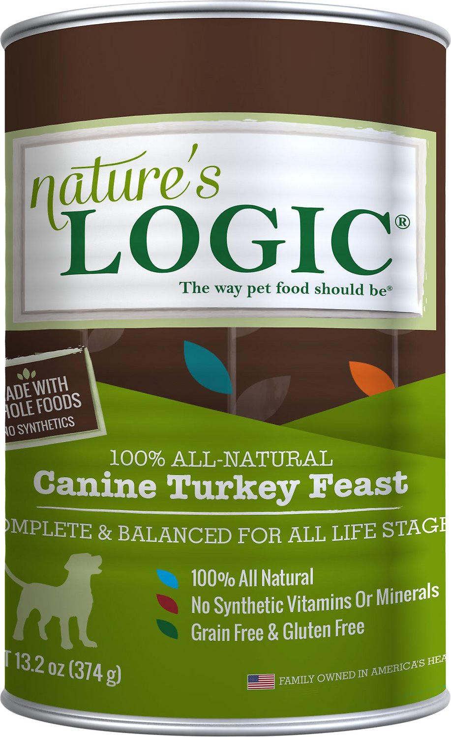 Nature's Logic Canine Turkey Feast Grain-Free Canned Dog Food, 13.2 oz
