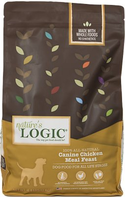 Nature's Logic Canine Chicken Meal Feast Dry Dog Food, 4.4-lb bag