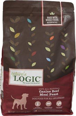 Nature's Logic Canine Beef Meal Feast Dry Dog Food, 4.4-lb bag
