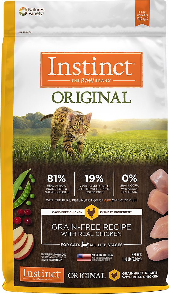 Instinct by Nature's Variety Original Grain-Free Recipe with Real Chicken Dry Cat Food Image