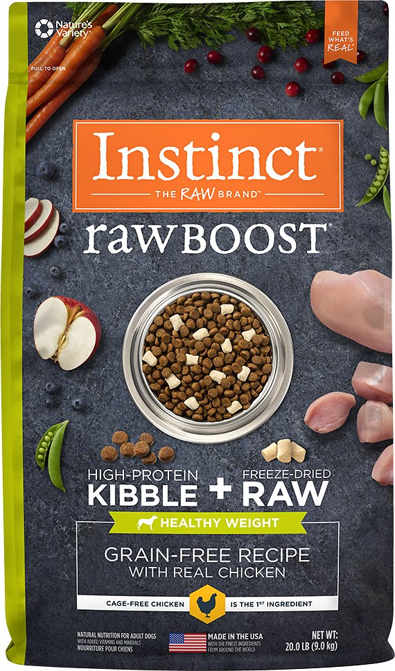 Instinct by Nature's Variety Raw Boost Healthy Weight Grain-Free Chicken Recipe Dry Dog Food Image