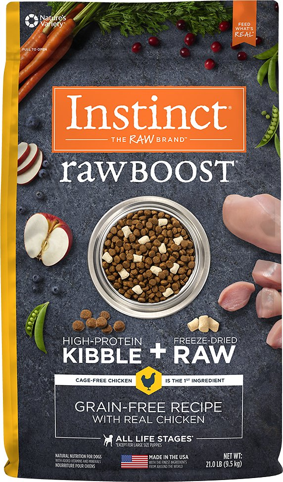 Instinct by Nature's Variety Raw Boost Grain-Free Recipe with Real Chicken Dry Dog Food Image