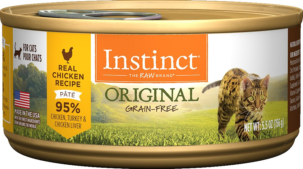 Instinct by Nature's Variety Original Grain-Free Real Chicken Recipe Natural Wet Canned Cat Food, 5.5-oz
