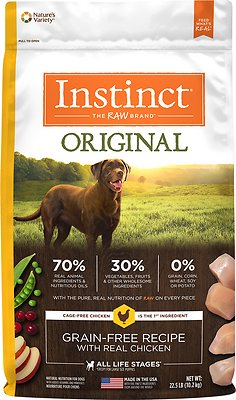 Instinct by Nature's Variety Original Grain-Free Recipe with Real Chicken Dry Dog Food, 22.5-lb bag