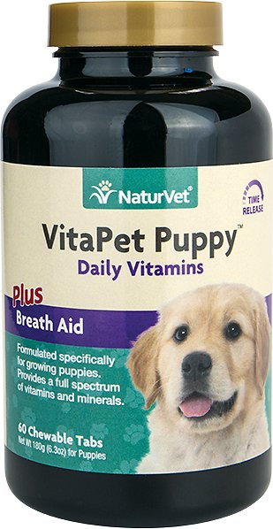 NaturVet VitaPet Puppy Care Vitamins & Minerals Dog Tablets, 60 count Image