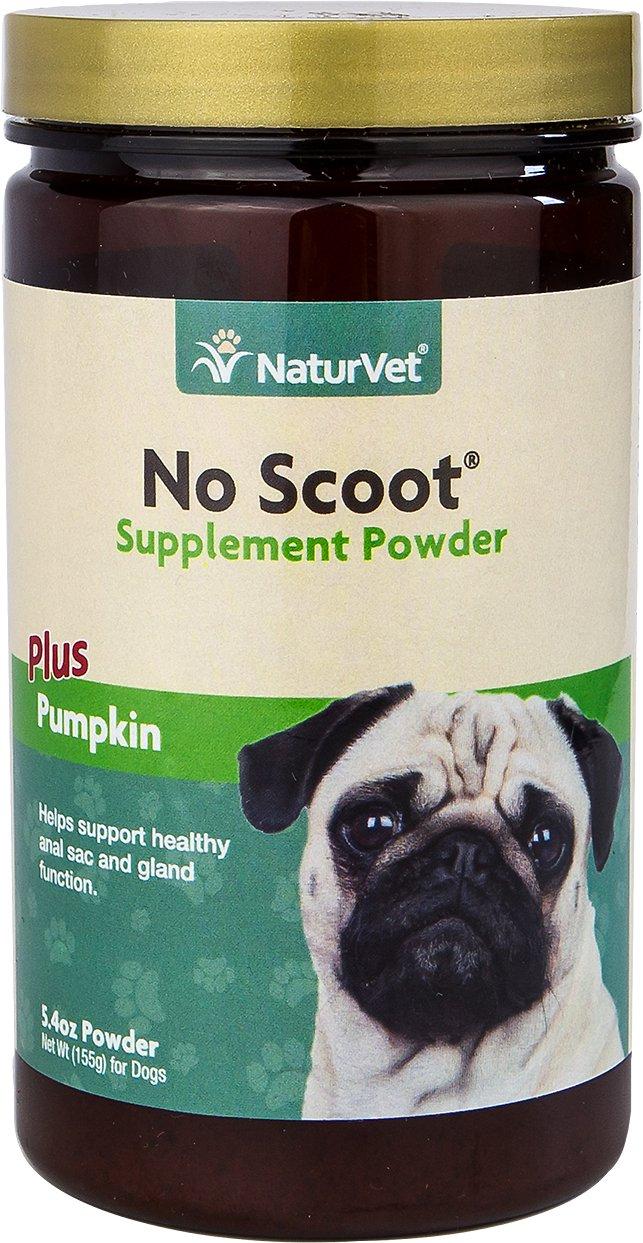 NaturVet No Scoot Plus Pumpkin Dog Powder Supplement, 155g bottle