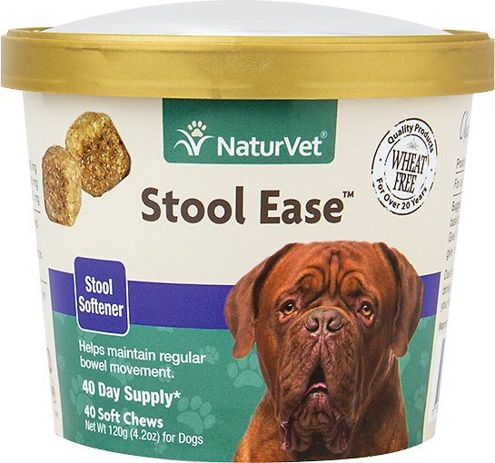 NaturVet Stool Ease Dog Soft Chews, 40 count