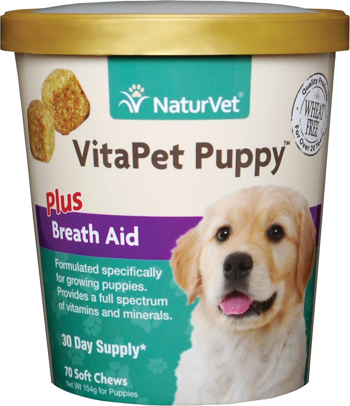 NaturVet VitaPet Puppy Vitamins & Minerals Dog Soft Chews, 70 count