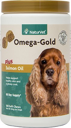 NaturVet Omega Gold Plus Salmon Oil Soft Chews for Dogs Image