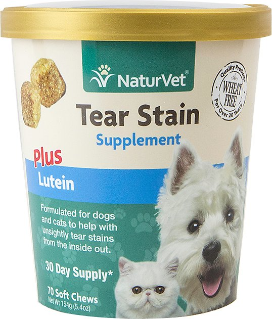 NaturVet Tear Stain Dog & Cat Soft Chews, 70 count Image