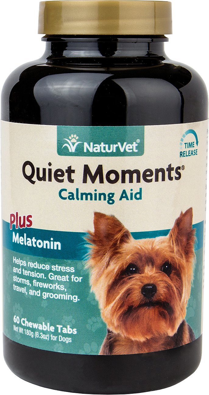 NaturVet Quiet Moments Calming Aid Plus Melatonin Dog Tablets Image