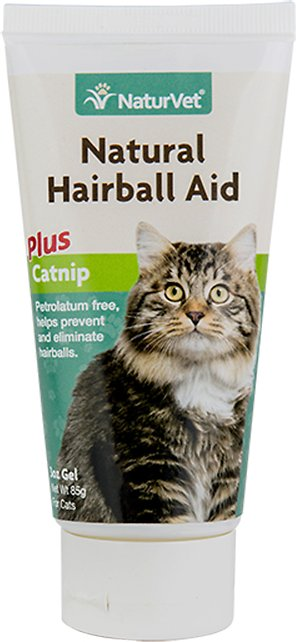 NaturVet Natural Hairball Aid with Catnip Cat Gel, 3-oz bottle
