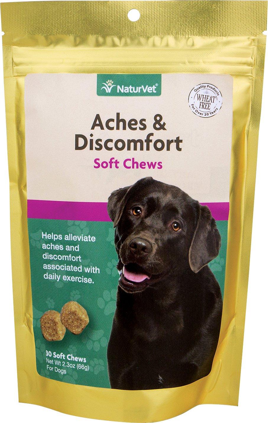 NaturVet Aches & Discomfort Dog Soft Chews, 30 count
