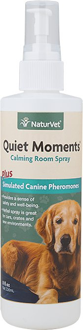 NaturVet Quiet Moments Herbal Calming Aid Dog Spray, 8-oz bottle Image