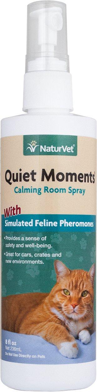 NaturVet Quiet Moments Herbal Calming Aid Cat Spray, 8-oz bottle