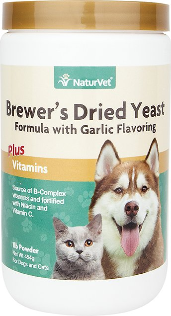 NaturVet Brewer's Dried Yeast Formula with Garlic Dog & Cat Powder Suppliment Image