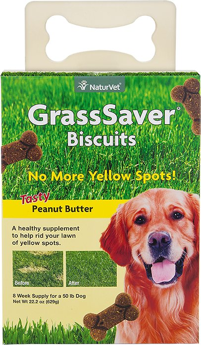 NaturVet GrassSaver Biscuits Peanut Butter Flavored Dog Treats Image