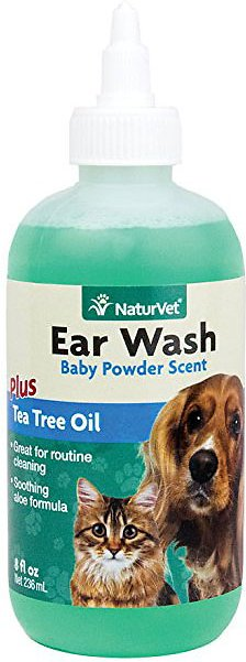 NaturVet Ear Wash with Tea Tree Oil for Dogs & Cats Image