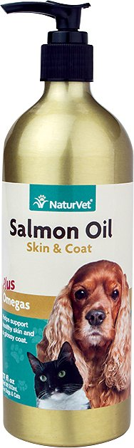 NaturVet Unscented Salmon Oil for Dogs & Cats Image