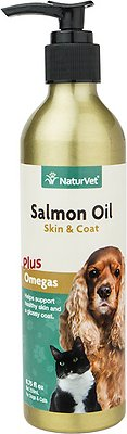 NaturVet Unscented Salmon Oil for Dogs & Cats, 8.75-oz bottle