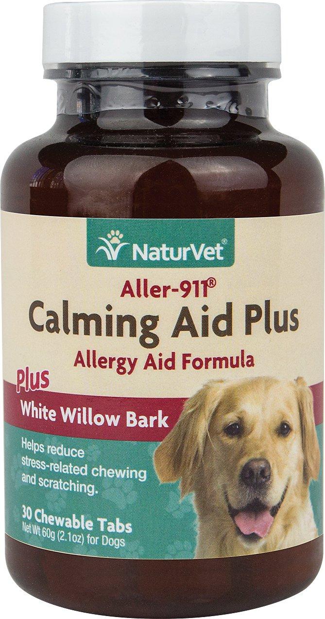 NaturVet Aller 911 Calming Aid Plus White Willow Bark Dog Tablets, 30 count