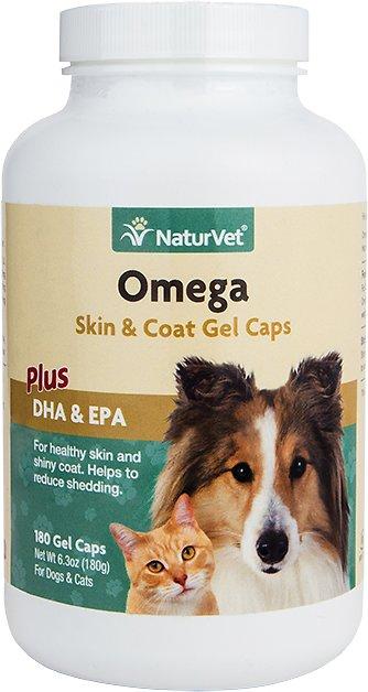 NaturVet Omega Dog & Cat Gel Caps