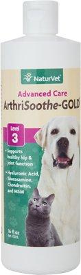 NaturVet ArthriSoothe GOLD Hip & Joint Level 3 Advanced Formula Dog & Cat Liquid Supplement, 16-oz bottle