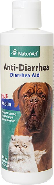 NaturVet Anti-Diarrhea Dog & Cat Liquid Supplement, 8-oz bottle