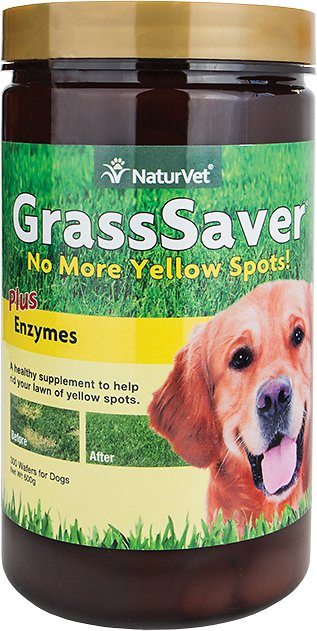 NaturVet GrassSaver Wafers Plus Enzymes Dog Supplement, 300 count Image