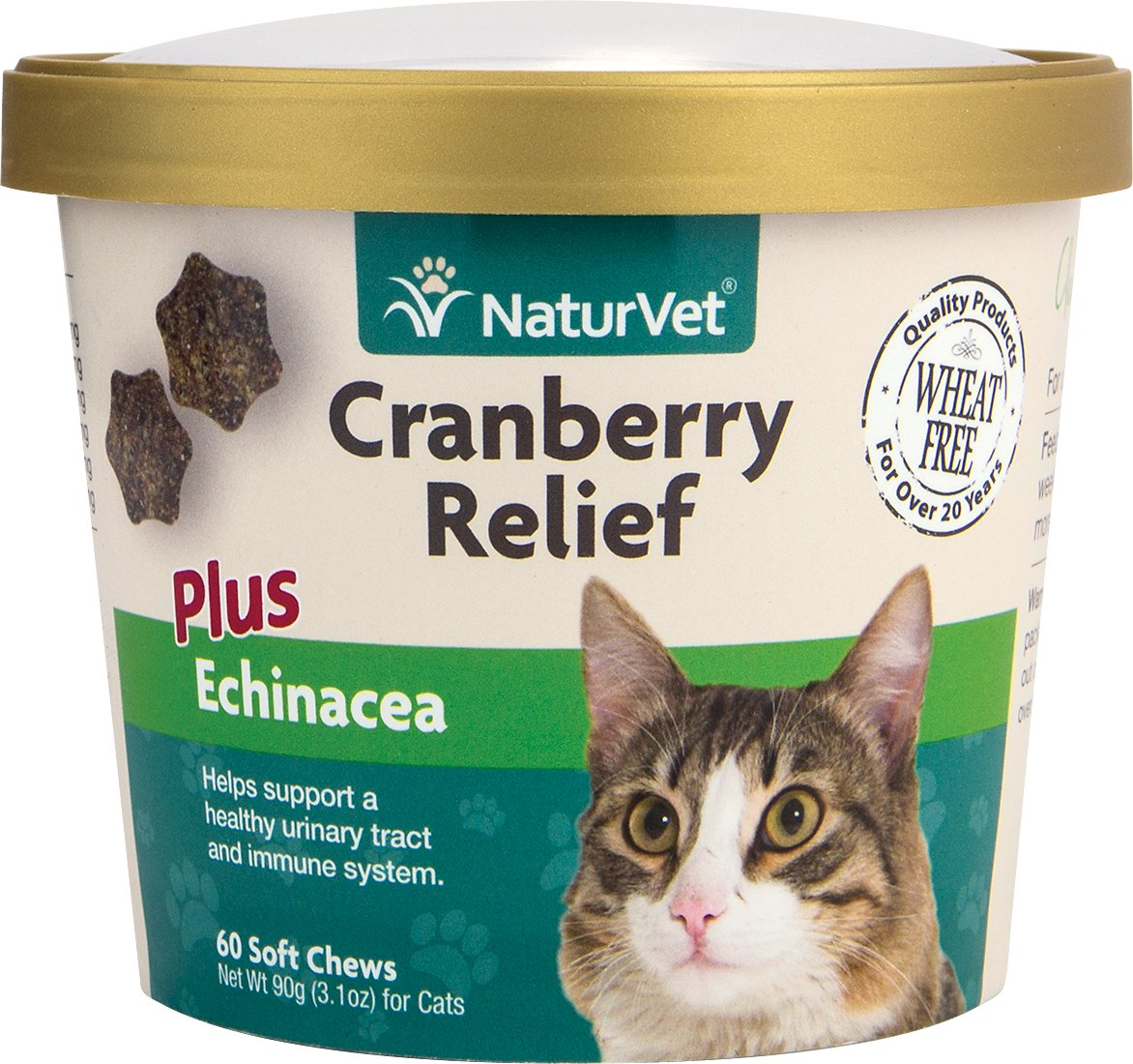 NaturVet Cranberry Relief Plus Echinacea Cat Soft Chews, 60-count Image
