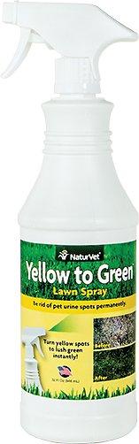 NaturVet Yellow to Green Lawn Spray, 32-oz bottle