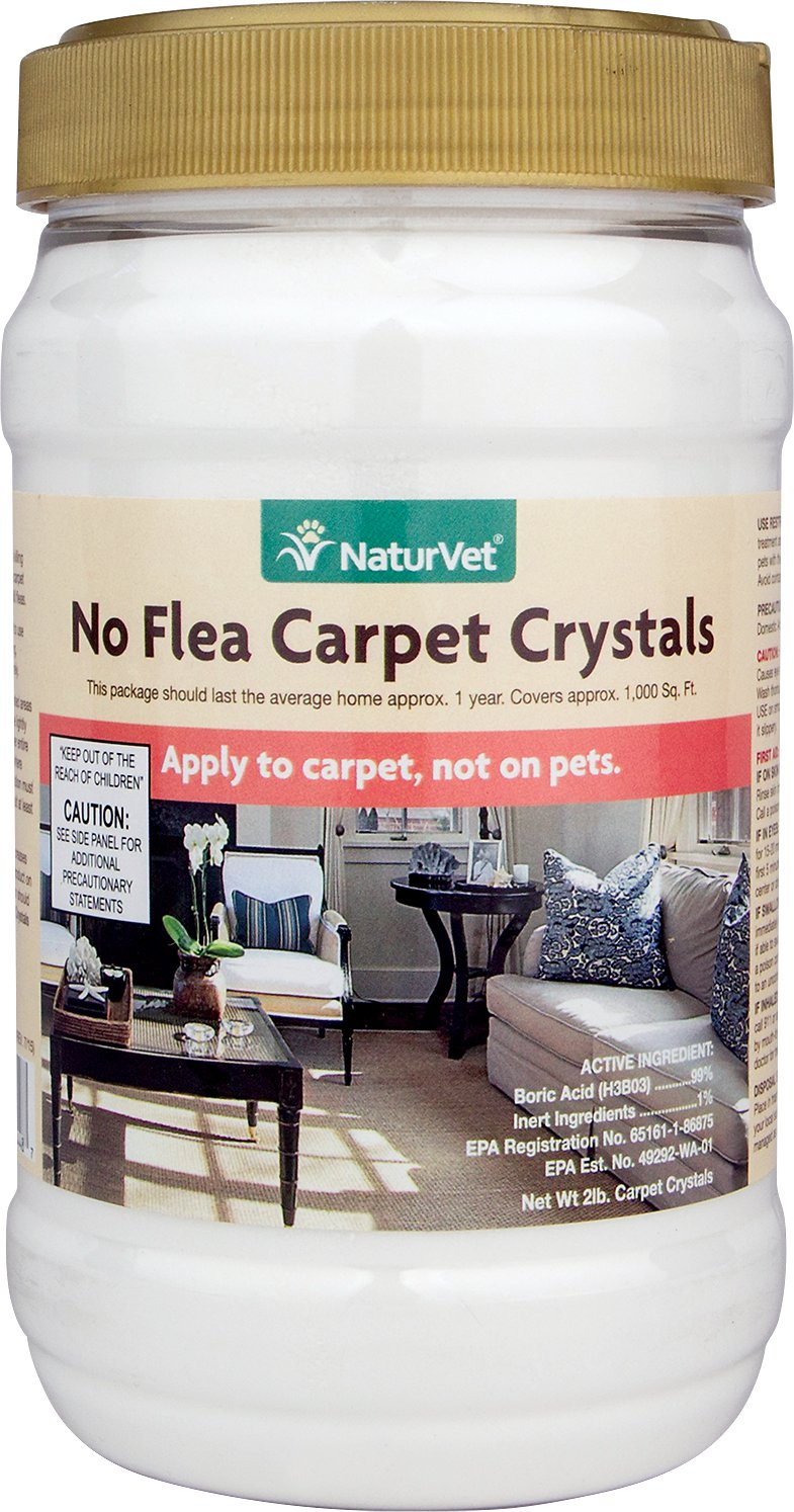 NaturVet No Flea Carpet Crystal Powder, 2-lb jar Image
