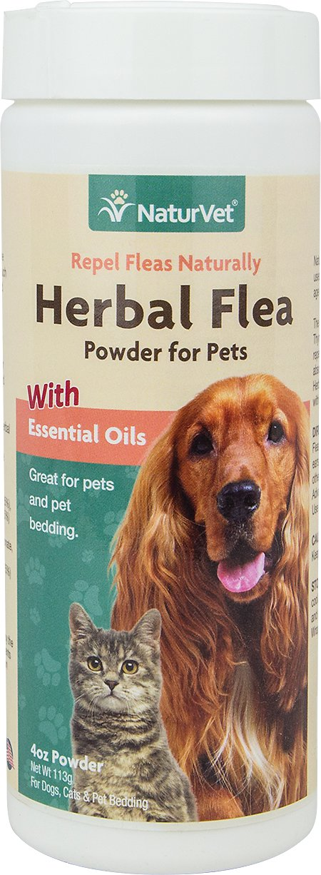 NaturVet Herbal Flea Cat & Dog Powder, 4-oz container Image