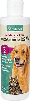 NaturVet Glucosamine DS with MSM & Chondroitin Hip & Joint Stage 2 Formula Dog & Cat Liquid Supplement, 8-oz bottle