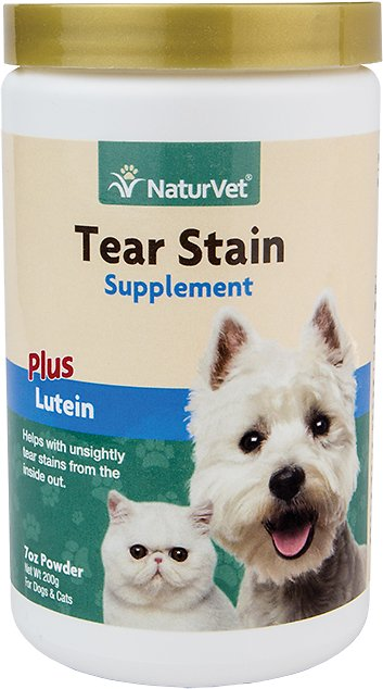 NaturVet Tear Stain Dog & Cat Powder Supplement, 200-g bottle Image