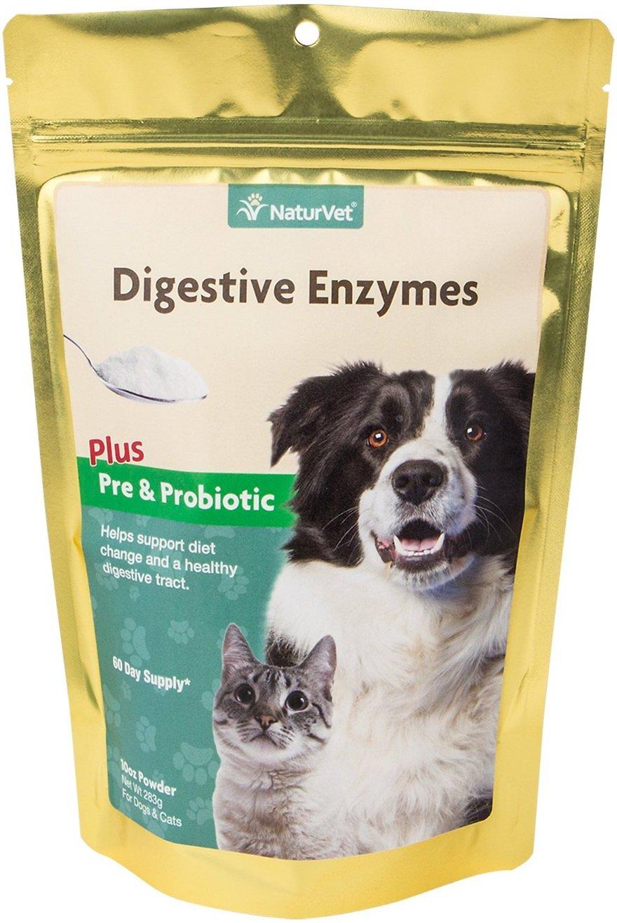 NaturVet Digestive Enzymes Pre & Probiotic Plus Powder Dog Supplement, 10-oz Image