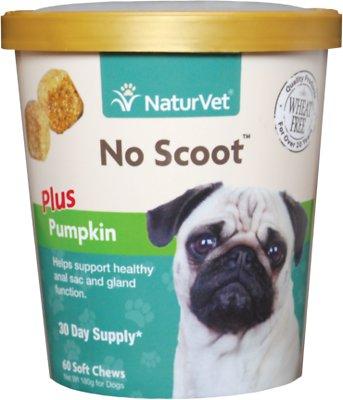 NaturVet No Scoot Dog Soft Chews, 60-count