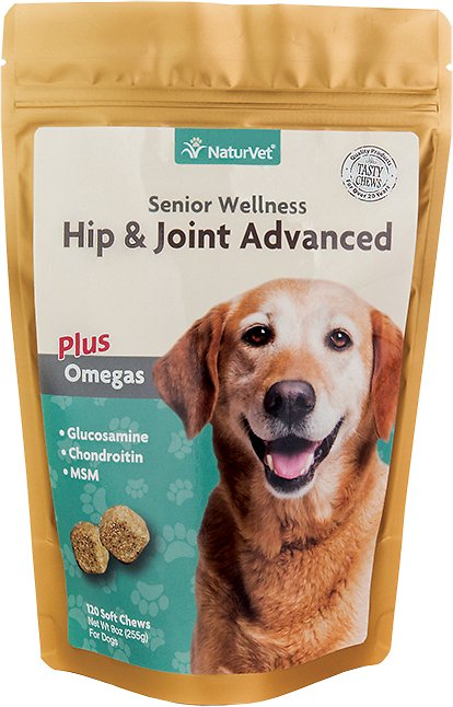 NaturVet Senior Care Hip & Joint Advanced Formula Dog Soft Chews, 120 count Image